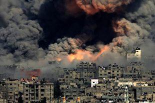 إسرائيل تشن قصف مدفعي علي قطاع غزة أمس الأحد