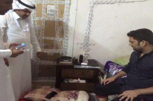 مقيم يمني بالسعودية تم إيقافه لامتهانه صيانة الجوالات بمنزله