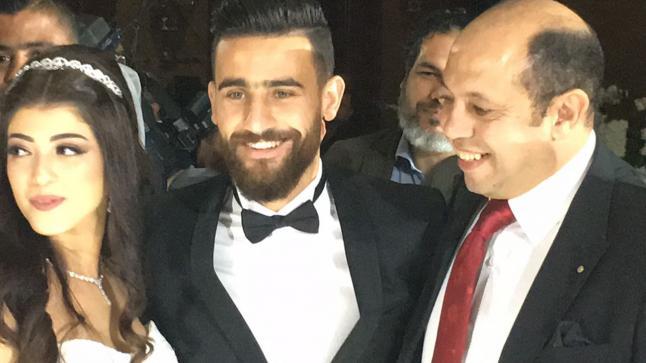 بالصور.. نجوم كرة القدم يشعلون فرح باسم مرسي