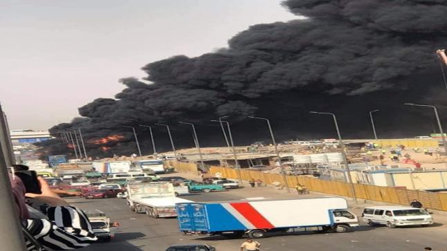 افتعال حريق بخط بترول القاهرة الإسماعيلية الصحراوي