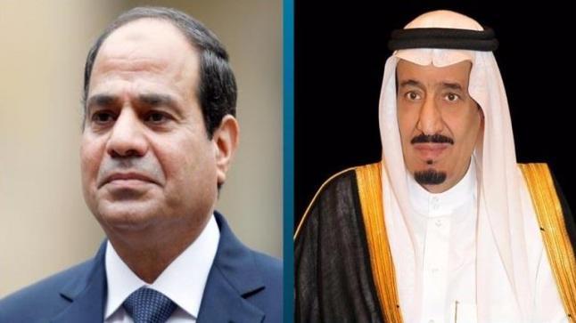 خادم الحرمين الشريفين يتلقى اتصالا هاتفيا من الرئيس المصري